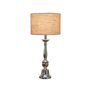 Brushed nickel table lamps wayfair musser nickel 22 table lamp aloadofball Image collections