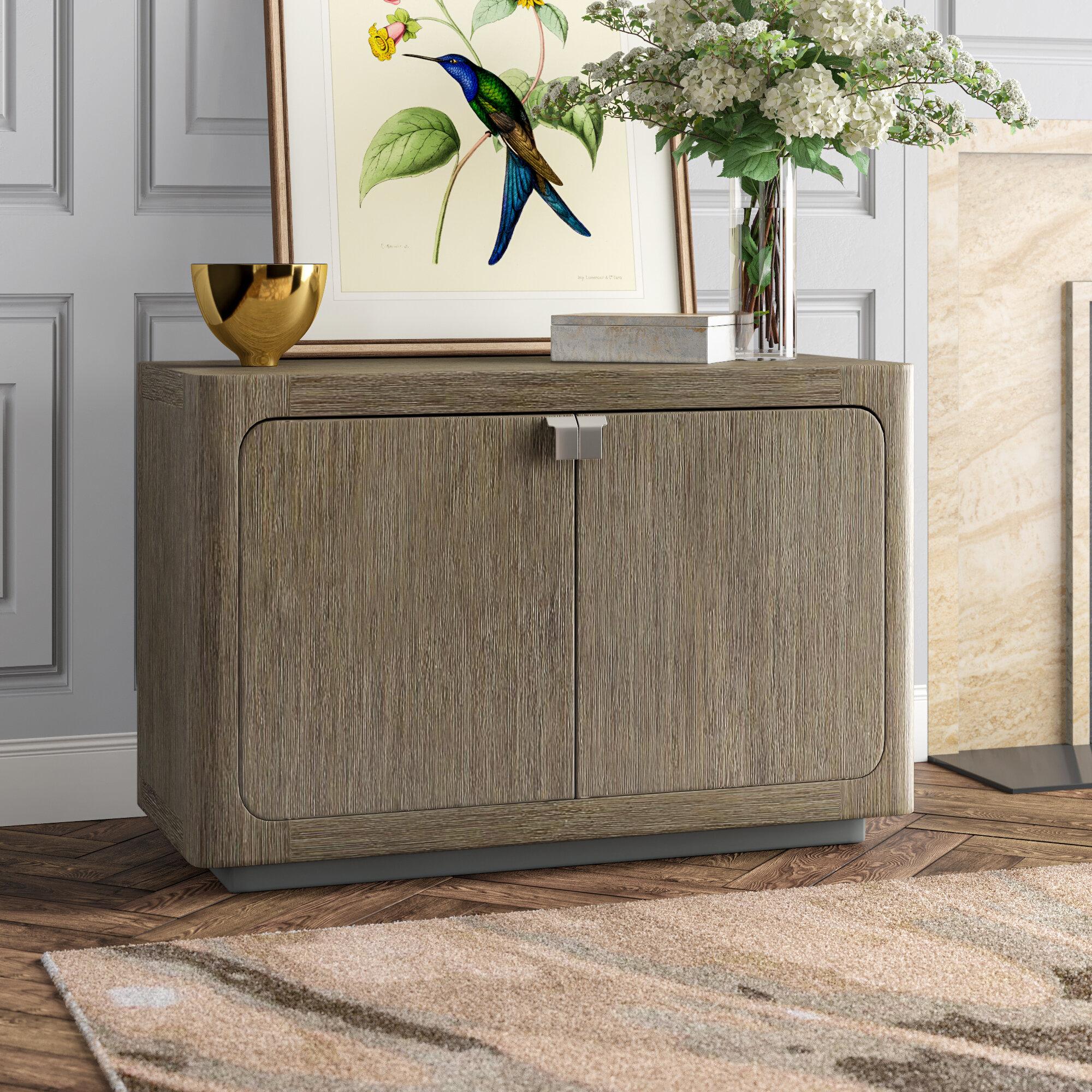 Caracole Modern Fusion Cerused Oak 2 Door Cabinet Perigold