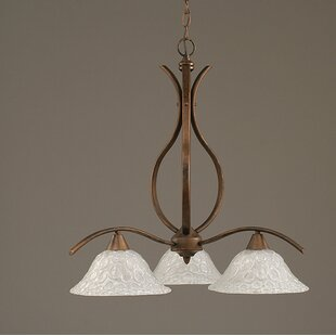 Demi 3-Light Shaded Chandelier by Red Barrel Studio