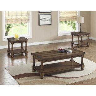 Gracie Oaks Mcclain 3 Piece Coffee Table Set
