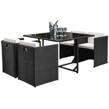 Beautiful Margo 5 Piece Outdoor Dining Set With Cushion