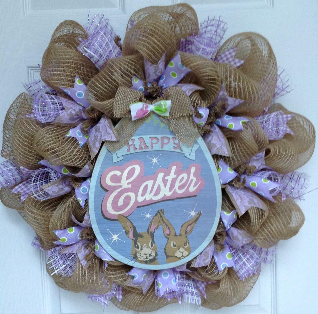 Easter Wreath Easter Egg Wreath Spring Wreath Pastel Easter Wreath Easter Wooden Truck Wreath Happy Easter Truck Wreath