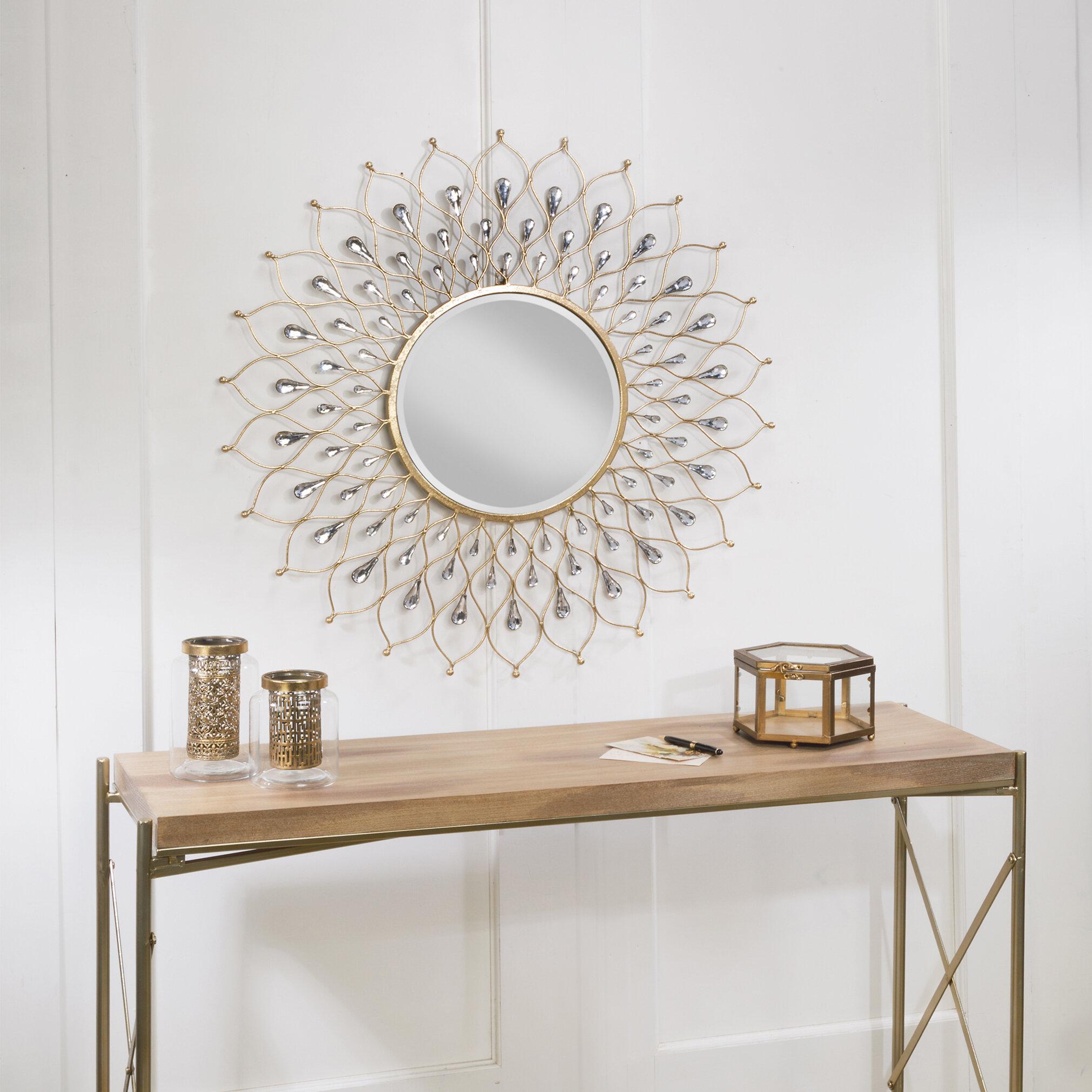 House Of Hampton Chauntel Glam Accent Mirror Reviews Wayfair