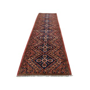 One-of-a-Kind Strängnäs Hand-Knotted 2'7 x 9'7 Wool Green/Blue/Orange Area Rug