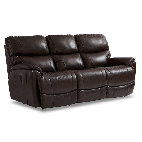 La Z Boy Trouper 85 Wide Leather Match Pillow Top Arm Reclining Sofa Wayfair