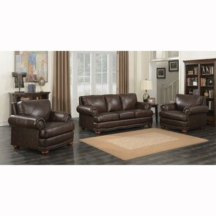 Canora Grey Wakerobin 3 Piece Leather Living Room Set