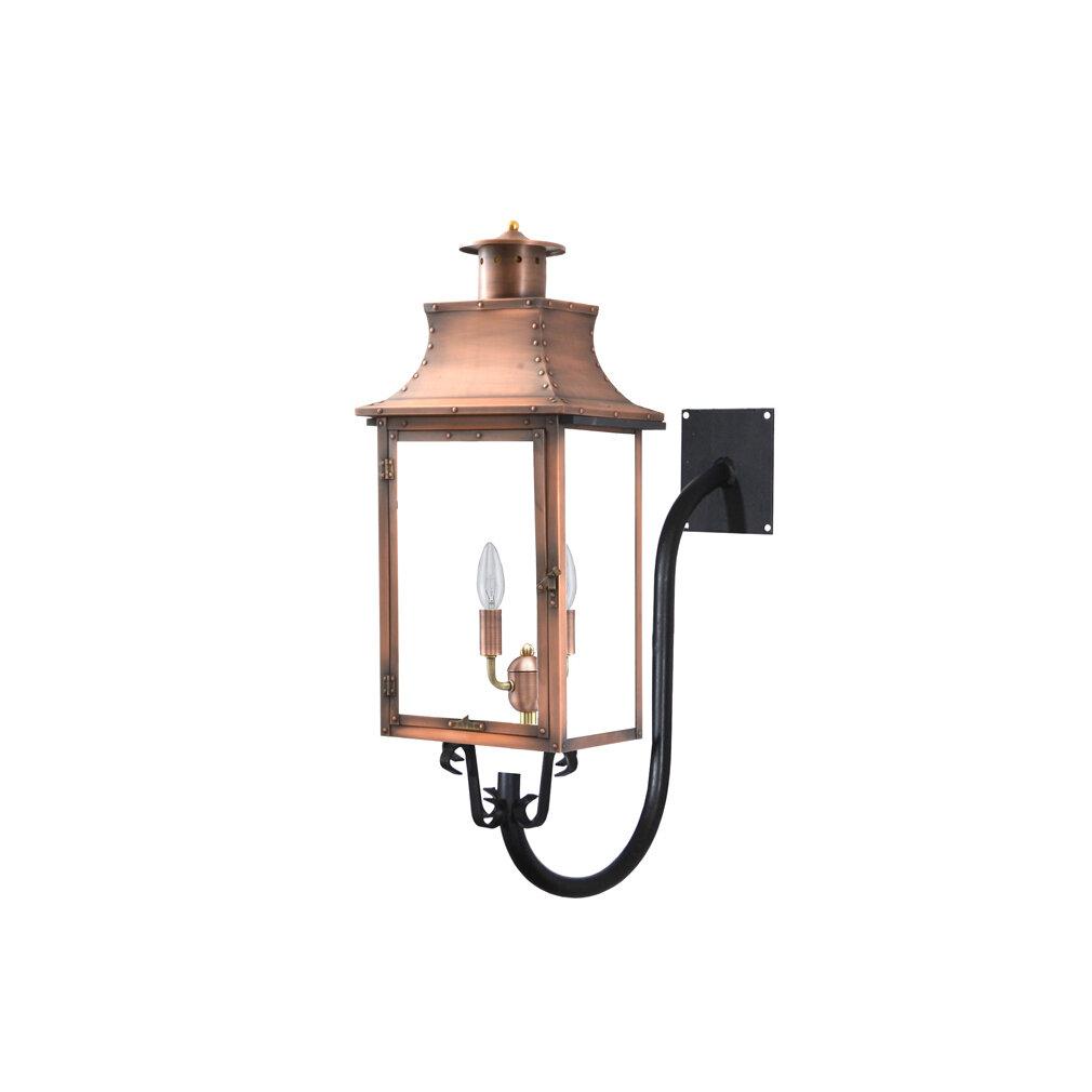 Longshore Tides Gravette Aged Copper 20 H Outdoor Wall Lantern Wayfair