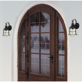 Gracie Oaks Khine 1-Light Outdoor Wall Lantern