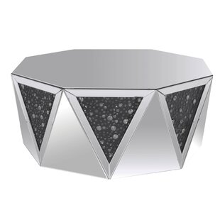 Reviews Ayers Octagonal Mirrored Top Coffee Table by House of Hampton Reviews (2019) & Buyer's Guide