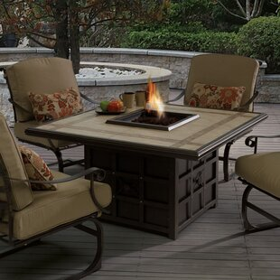 Antoine Wrought Iron Propane Fire Pit Table