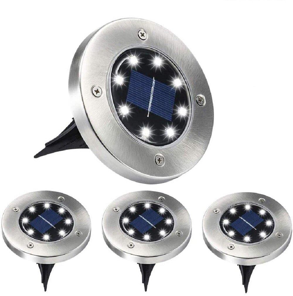 Icorer Steel 1 Solar Powered Integrated Led Deck Light Pack Wayfair