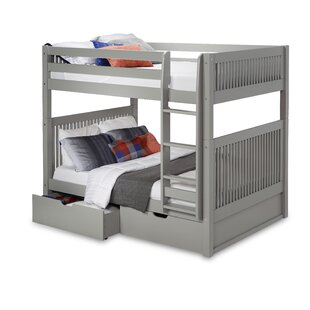 Oakwood Full Over Full Bunk Bed with Drawer