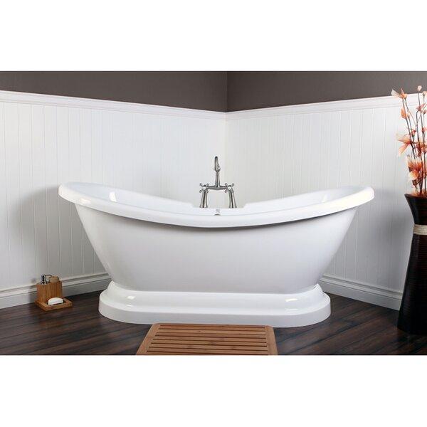 kingston brass vintage cast iron bathtub with