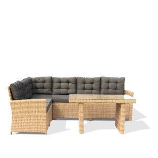 Kerr Outdoor 3 Piece Sectional Seating Group with Cushions