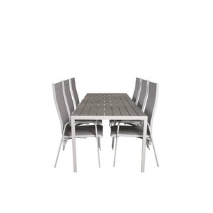 Alberte 6 Seater Dining Set By Sol 72 Outdoor