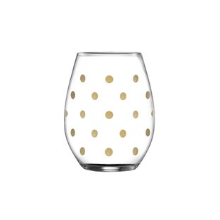 Polka Dot Wine Glasses Wayfair