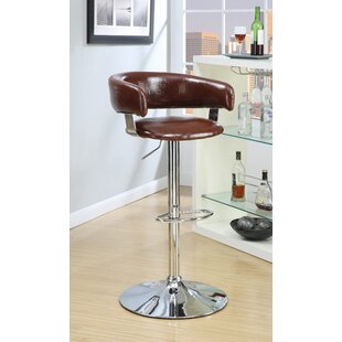 Klein Gas Lift Adjustable Height Swivel Bar Stool by Williston Forge