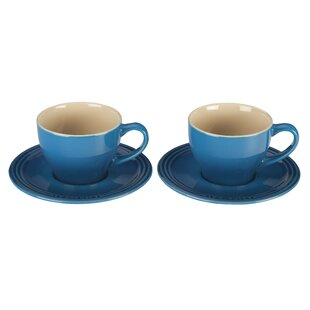 Stoneware Cup and Saucer (Set of 2)