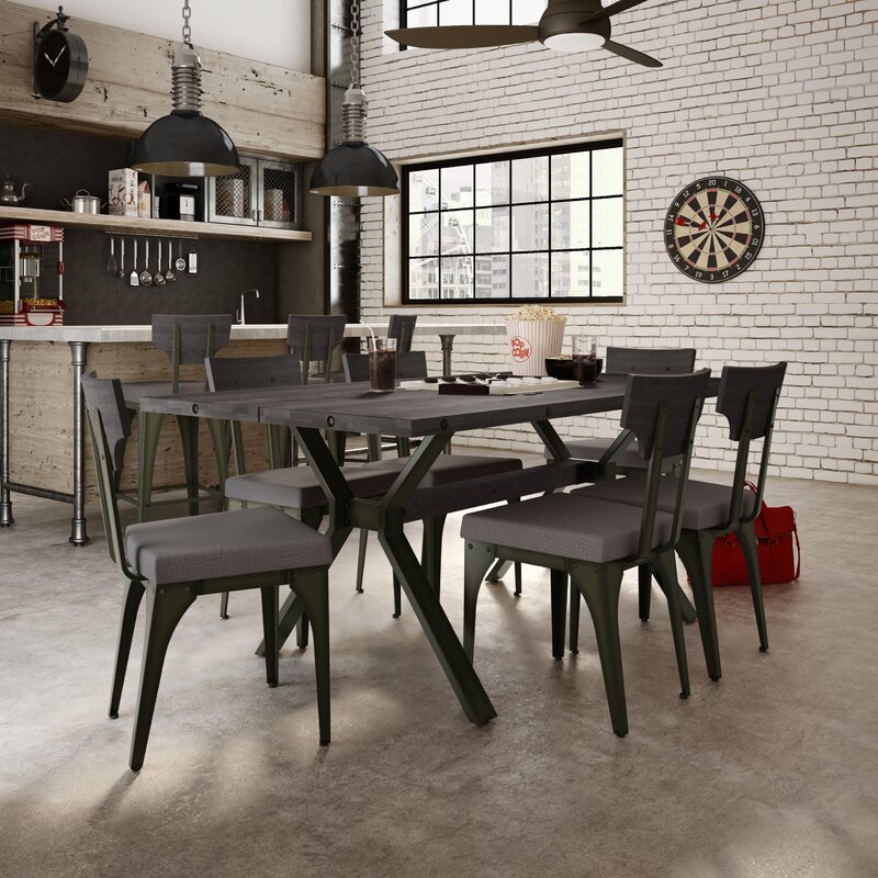 Industrial Dining Room Sets Part - 27: Darcelle 7 Piece Industrial Dining Set