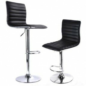 Chantry Modern Adjustable Height Swivel Bar Stool (Set of 2) Orren Ellis