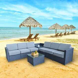 Shorehamby Outdoor 8 Piece Patio Sectional Seating Group With Cushions By Ivy Bronx