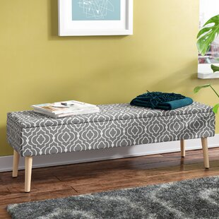 George Oliver Valdivia Mid Century Upholstered Storage Bench