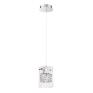 Hoekstra 1-Light Square/Rectangle Pendant by Orren Ellis