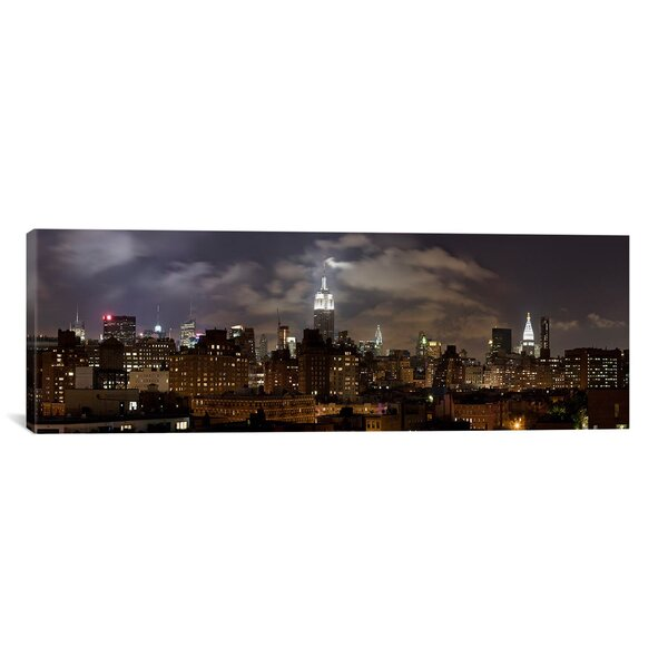 East Urban Home Buildings Lit Up At Night Empire State Building Manhattan New York City New York State 2009 Photographic Print On Canvas Reviews Wayfair