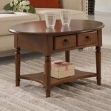 Husted Solid Wood Coffee Table with Storage by Charlton Home®