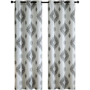 Quiroz Damask Room Darkening Grommet Curtain Panels (Set Of 2)