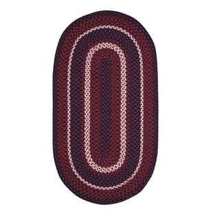 Wieland Hand-Braided Red Area Rug by Breakwater Bay