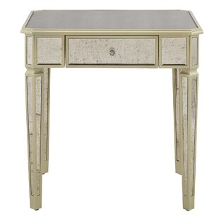 Best Reviews Mirrored End Table with Storage By Willa Arlo Interiors