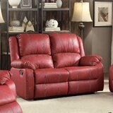Swinford Faux Leather 60 Wide Pillow Top Arm Reclining Loveseat by Red Barrel Studio®