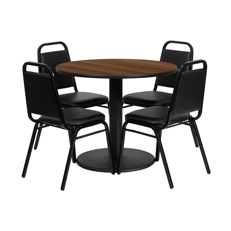 Ebern Designs Sierocka Round Indoor And Outdoor 5 Piece Dining Set Wayfair