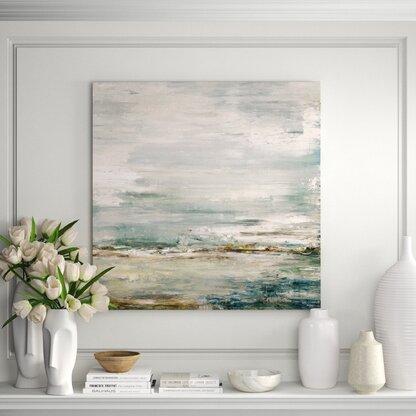 Sea and Sky by John Beard - Unframed Painting on Canvas