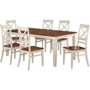 Loraine 7 Piece Extendable Solid Wood Din..