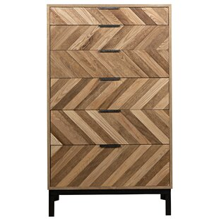 Herringbone 6 Drawer Accent Chest by Noir