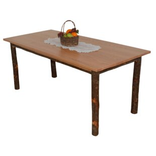 Wyton Hickory Solid Wood Dining Table by Loon Peak