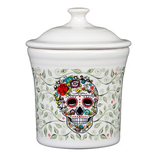Skull and Vine Sugar Canning Jar