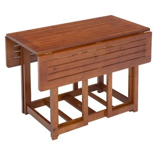 Folding Extendable Solid Wood Dining Tabl..