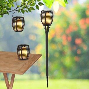 Velarde Black Solar Powered LED Outdoor Lantern (Set Of 2) By Sol 72 Outdoor