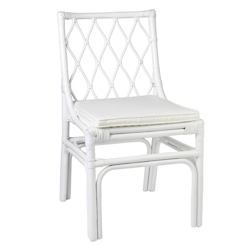 Westmoreland Side Chair. Hello Lovely, White French Home Decor for Fans of Country Interiors.