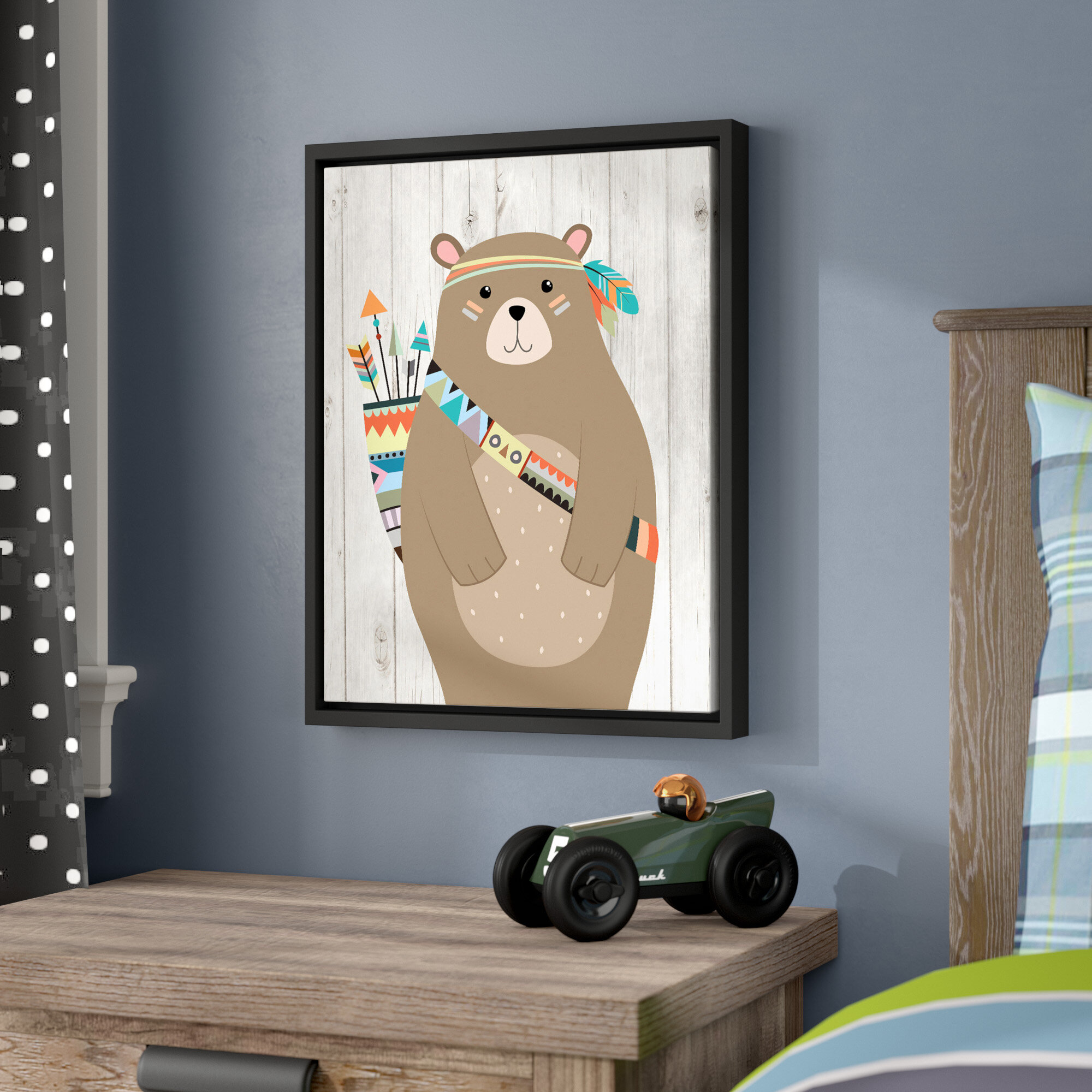 Viv Rae Aida Tribal Bear Ii Framed Art Wayfair
