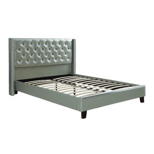 Best Reviews Krueger Upholstered Platform Bed By Rosdorf Park