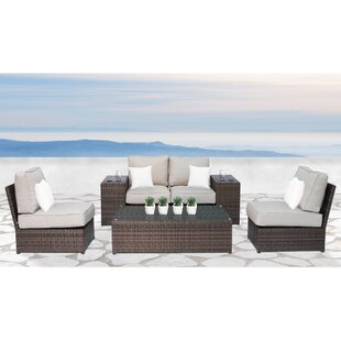 Simmerman 7 Piece Sectional Set with Cushions