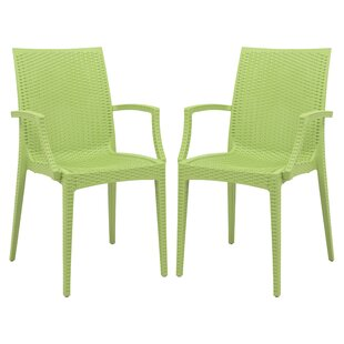 Winston Porter Quade Stacking Patio Dining Chair (Set of 2)