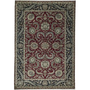 Top Reviews One-of-a-Kind Crown Select Handwoven 12'1 x 18'4 Wool Red/Black Area Rug By Bokara Rug Co., Inc.