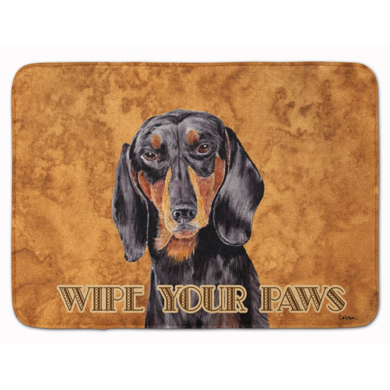East Urban Home Dachshund Wipe Your Paws Memory Foam Bath Rug Wayfair