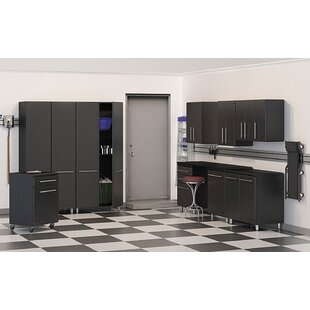 Garage 7' H x 2' D 10-Piece Storage Deluxe System with Work Station by Ulti-MATE