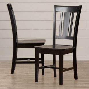 Malcolm Solid Wood Dining Chair (Set of 2) August Grove